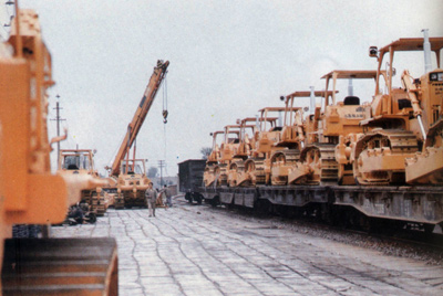 产品从山推铁路专用线发往古巴